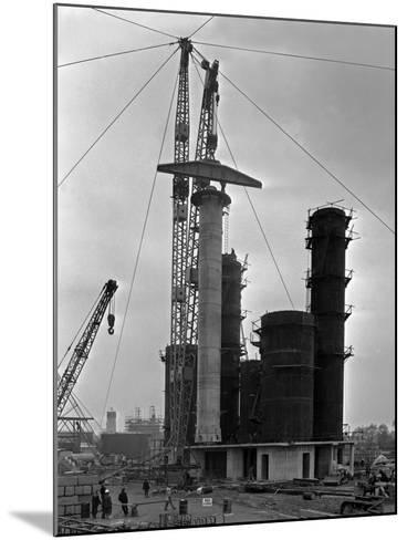 High Pressure Coal Gasification Plant under Construction at Coleshill, West Midlands. 28th May 1-Michael Walters-Mounted Photographic Print