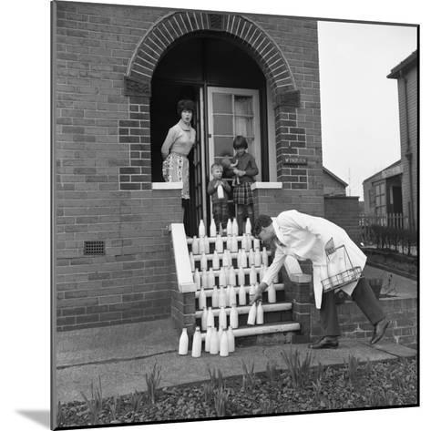 60 Pints of Milk, Advertisment for the Barnsley Co-Op, Mexborough, South Yorkshire, 1964-Michael Walters-Mounted Photographic Print