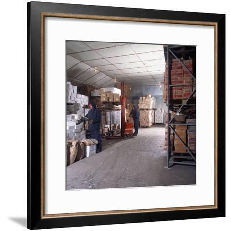 Workers in a Cold Store at Modern Foods, Mexborough, South Yorkshire, 1973-Michael Walters-Framed Art Print
