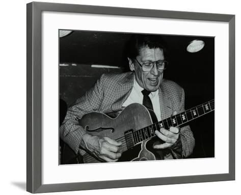 Tal Farlow Playing the Guitar at the Bell, Codicote, Hertfordshire, 18 May 1986-Denis Williams-Framed Art Print