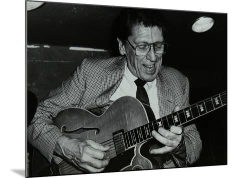 Tal Farlow Playing the Guitar at the Bell, Codicote, Hertfordshire, 18 May 1986-Denis Williams-Mounted Photographic Print