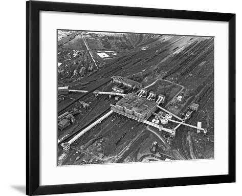 Aerial View of the Manvers Coal Processing Plant, Wath Upon Dearne, South Yorkshire, 1964-Michael Walters-Framed Art Print