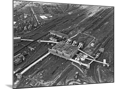 Aerial View of the Manvers Coal Processing Plant, Wath Upon Dearne, South Yorkshire, 1964-Michael Walters-Mounted Photographic Print