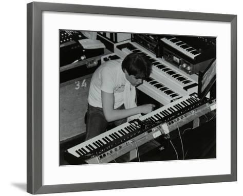 German Electronic Musician Klaus Schulze at the Forum Theatre, Hatfield, Hertfordshire, 1983-Denis Williams-Framed Art Print