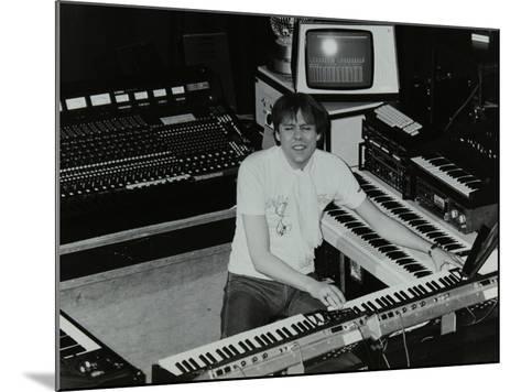 German Electronic Musician Klaus Schulze at the Forum Theatre, Hatfield, Hertfordshire, 1983-Denis Williams-Mounted Photographic Print
