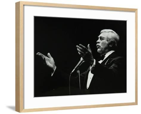 Howard Keel in Full Song at the Forum Theatre, Hatfield, Hertfordshire, 14 May 1983-Denis Williams-Framed Art Print