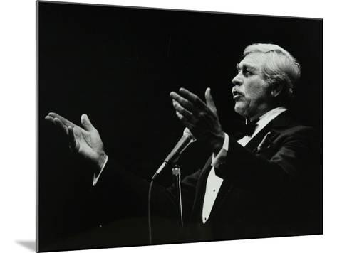 Howard Keel in Full Song at the Forum Theatre, Hatfield, Hertfordshire, 14 May 1983-Denis Williams-Mounted Photographic Print