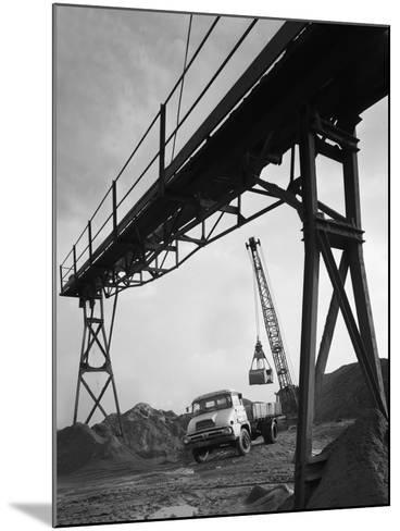 Loading a Ford Thames Trader Tipper Lorry, Finningley, Near Doncaster, South Yorkshire, 1966-Michael Walters-Mounted Photographic Print