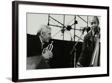 Ruby Braff and Slam Stewart on Stage at the Capital Radio Jazz Festival, London, 1979-Denis Williams-Framed Art Print