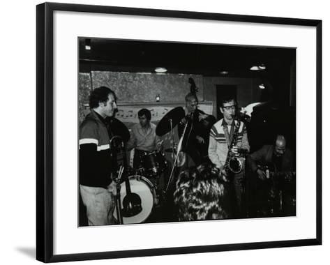 Jazz at the Bell, Codicote, Hertfordshire, January 1984-Denis Williams-Framed Art Print
