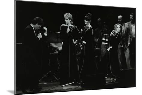 Georgie Fame and Sweet Substitute with Keith Smiths Hefty Jazz in Concert, 1984-Denis Williams-Mounted Photographic Print