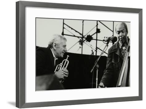 Ruby Braff and Slam Stewart at the Capital Jazz Festival, Alexandra Palace, London, July 1979-Denis Williams-Framed Art Print