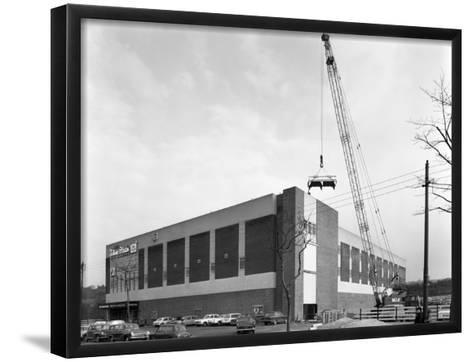 Lifting Heat Exchangers into Place, Silver Blades Ice Rink, Sheffield, South Yorkshire, 1966-Michael Walters-Framed Art Print