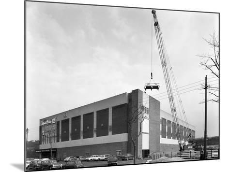 Lifting Heat Exchangers into Place, Silver Blades Ice Rink, Sheffield, South Yorkshire, 1966-Michael Walters-Mounted Photographic Print