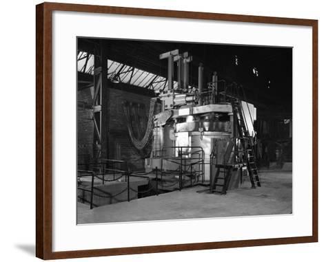 Tilghman Electric Arc Furnace, Keyser Ellison Steelworks, Sheffield, South Yorkshire, 1964-Michael Walters-Framed Art Print