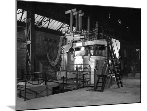 Tilghman Electric Arc Furnace, Keyser Ellison Steelworks, Sheffield, South Yorkshire, 1964-Michael Walters-Mounted Photographic Print