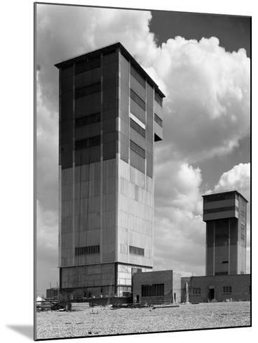 The Downcast Koepe Tower at Cotgrave Colliery, Nottinghamshire, 1963-Michael Walters-Mounted Photographic Print