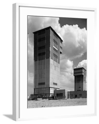 The Downcast Koepe Tower at Cotgrave Colliery, Nottinghamshire, 1963-Michael Walters-Framed Art Print