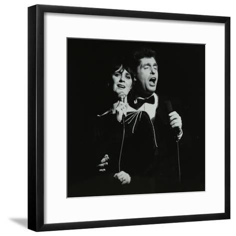 Georgie Fame and Sweet Substitute with Keith Smiths Hefty Jazz in Concert, 1984-Denis Williams-Framed Art Print