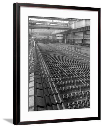The Bar Mill Cooling Beds at the Brightside Foundry, Sheffield, South Yorkshire, 1964-Michael Walters-Framed Art Print