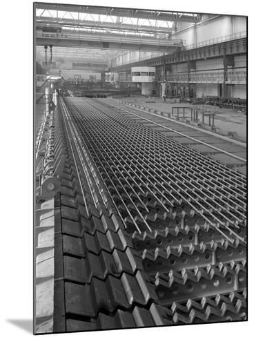 The Bar Mill Cooling Beds at the Brightside Foundry, Sheffield, South Yorkshire, 1964-Michael Walters-Mounted Photographic Print