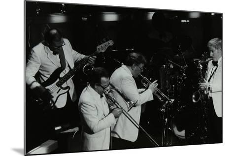 Jazz Group Playing at the Forum Theatre, Hatfield, Hertfordshire, 1984-Denis Williams-Mounted Photographic Print
