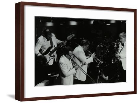Jazz Group Playing at the Forum Theatre, Hatfield, Hertfordshire, 1984-Denis Williams-Framed Art Print