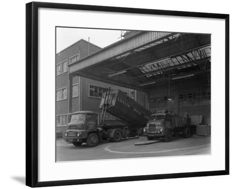 Unloading and Loading Lorries, Spillers Animal Foods, Gainsborough, Lincolnshire, 1961-Michael Walters-Framed Art Print