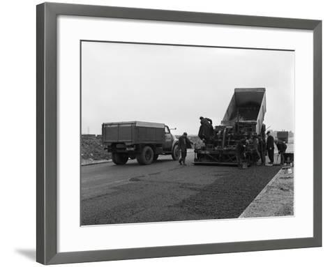 A Bedford A3S Tipper on the Site of Manvers Coal Prep Plant, South Yorkshire, 1955-Michael Walters-Framed Art Print