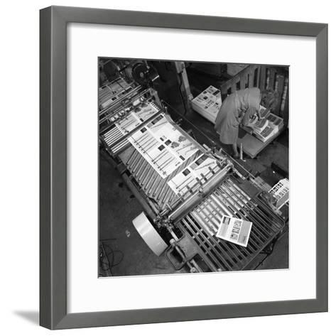 Stacking Finished Brochures at a Printers, Mexborough, South Yorkshire, 1959-Michael Walters-Framed Art Print