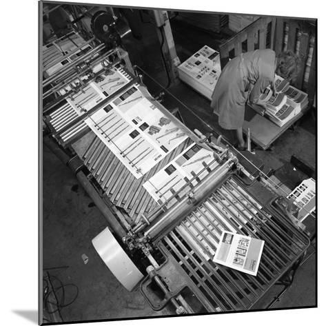 Stacking Finished Brochures at a Printers, Mexborough, South Yorkshire, 1959-Michael Walters-Mounted Photographic Print