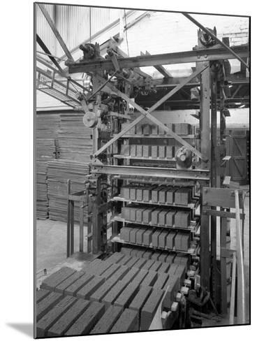 Palletising Machine at Whitwick Brickworks, Coalville, Leicestershire, 1963-Michael Walters-Mounted Photographic Print