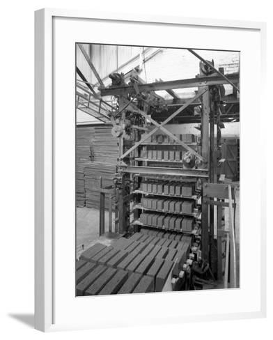 Palletising Machine at Whitwick Brickworks, Coalville, Leicestershire, 1963-Michael Walters-Framed Art Print
