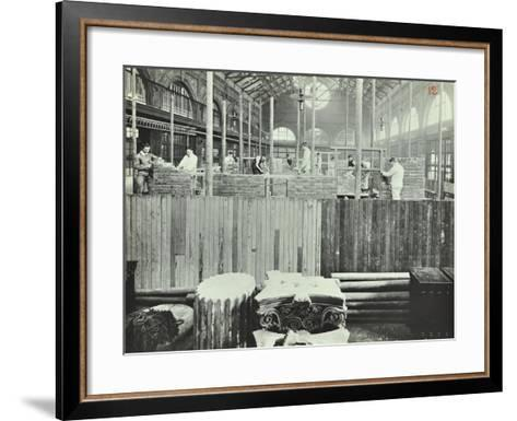 Building Class, School of Building, Brixton, London, 1911--Framed Art Print
