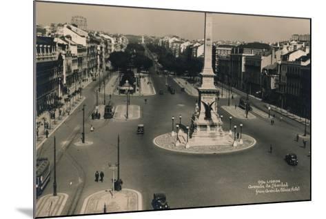 Avenida Da Liberdade, Lisbon, Portugal, C1936--Mounted Photographic Print