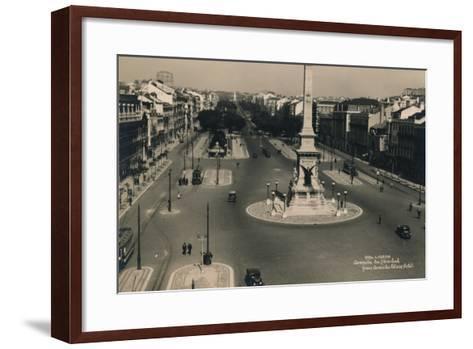 Avenida Da Liberdade, Lisbon, Portugal, C1936--Framed Art Print