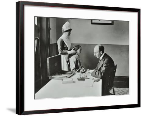 Consulting Room, Norwood School Treatment Centre, London, 1911--Framed Art Print