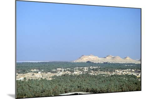 Jebel at Takrur from Siwa, Egypt-Vivienne Sharp-Mounted Photographic Print