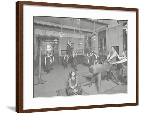 Gymnastics Lesson, Laxon Street Evening Institute for Women, London, 1914--Framed Art Print