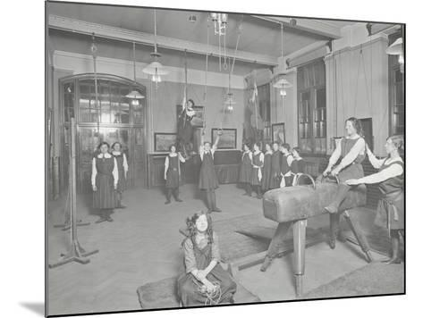 Gymnastics Lesson, Laxon Street Evening Institute for Women, London, 1914--Mounted Photographic Print