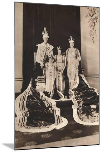 King George Vi and Queen Elizabeth on their Coronation Day, 1937--Mounted Photographic Print
