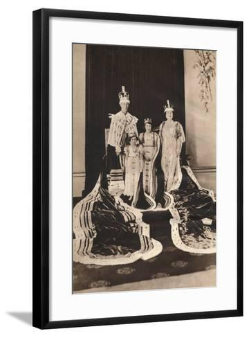 King George Vi and Queen Elizabeth on their Coronation Day, 1937--Framed Art Print
