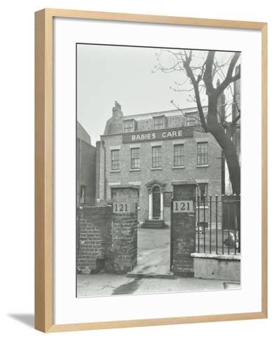 Babies Care Building, Kennington Road, Lambeth, London, 1950--Framed Art Print