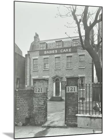 Babies Care Building, Kennington Road, Lambeth, London, 1950--Mounted Photographic Print