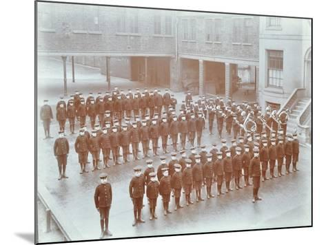 Boys on Parade at the Boys Home Industrial School, London, 1900--Mounted Photographic Print