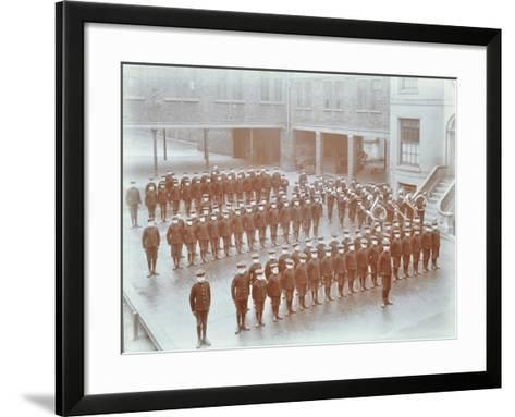 Boys on Parade at the Boys Home Industrial School, London, 1900--Framed Art Print