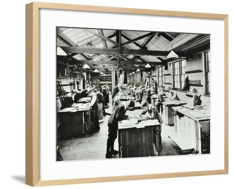 Handicraft Lesson, Hackney Downs School, London, 1911--Framed Art Print