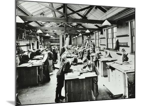 Handicraft Lesson, Hackney Downs School, London, 1911--Mounted Photographic Print