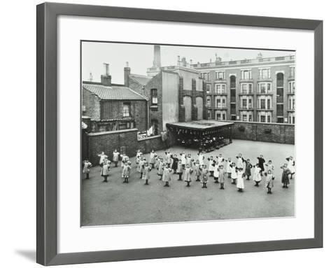 Open Air Exercise Class, Ben Jonson School, Stepney, London, 1911--Framed Art Print