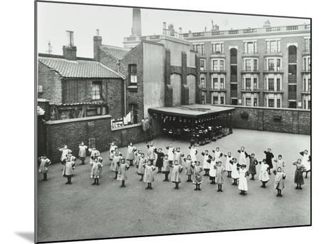 Open Air Exercise Class, Ben Jonson School, Stepney, London, 1911--Mounted Photographic Print